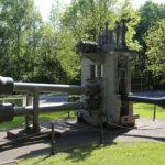 zu sehen ist das Industriedenkmal Pilgerwalze aus seitlicher Sicht