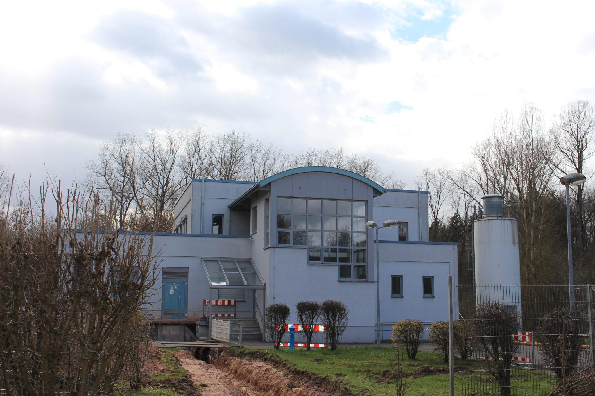 zu sehen ist das Wasserwerk Pulvermühle in der Dillmannsbornstraße