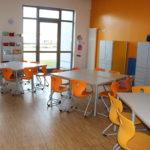 zu sehen ist der orangene Raum der FGTS