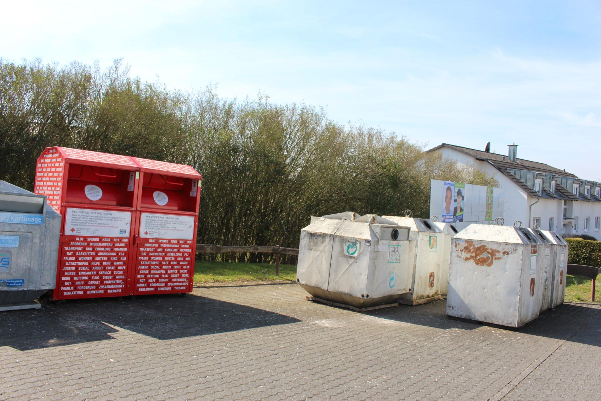 Containerstandorte und Entsorgung