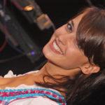 zu sehen ist die achtplatzierte von Germanys Next Top Model, Lisa Volz aus Bous im Dindl am Bouser Oktoberfest