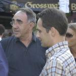 Der heutige Bundesaussenminister Heiko Maas mit Senatspraesident Gert Wernet als Besucher des Bouser Chausseefeschdes