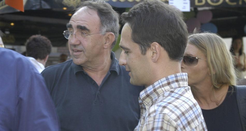 Der heutige Bundesaussenminister Heiko Maas mit Senatspräsident Gert Wernet als Besucher des Bouser Chausseefeschdes