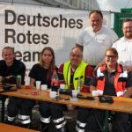zu sehen ist ein kleiner Teil des Deutschen Roten Kreuzes ohne deren Hilfe am Oktoberfest nichts geht.