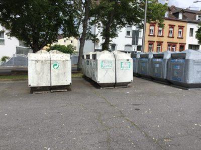 Versetzung der Container wegen Kirmes
