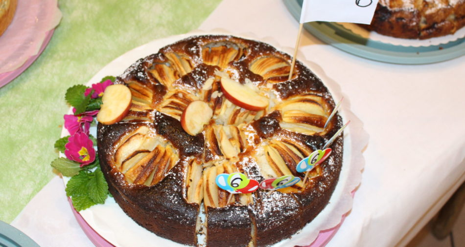 zu sehen ist der Apfelkuchen Nummer 6