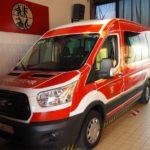 Hier sehen Sie den Mannschafts und Transportwagen der Freiwilligen Feuerwehr Bous